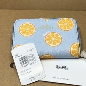 Coach Bags - Coach Zip Around Coin Case Wallet Orange 🍊 Print